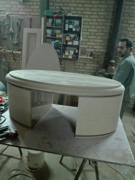 میز اداری چوب گردو , سبک مدرن ، ساختمان اداری خیابان پاسداران رستوران شاندیز