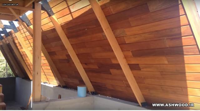 کلبه A ، ویلای چوبی ، شله ، ساختمان مثلثی ، ساختمان چوبی