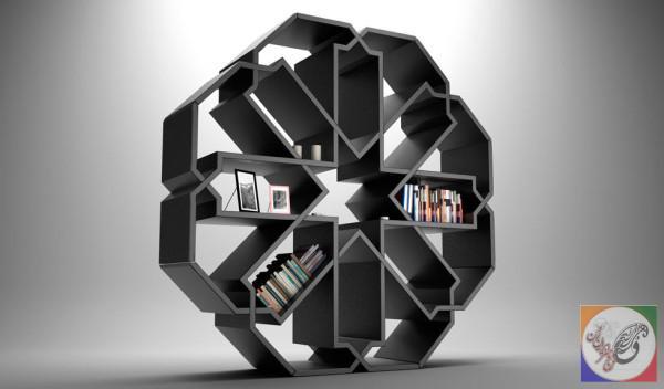 قفسه کتاب دیواری